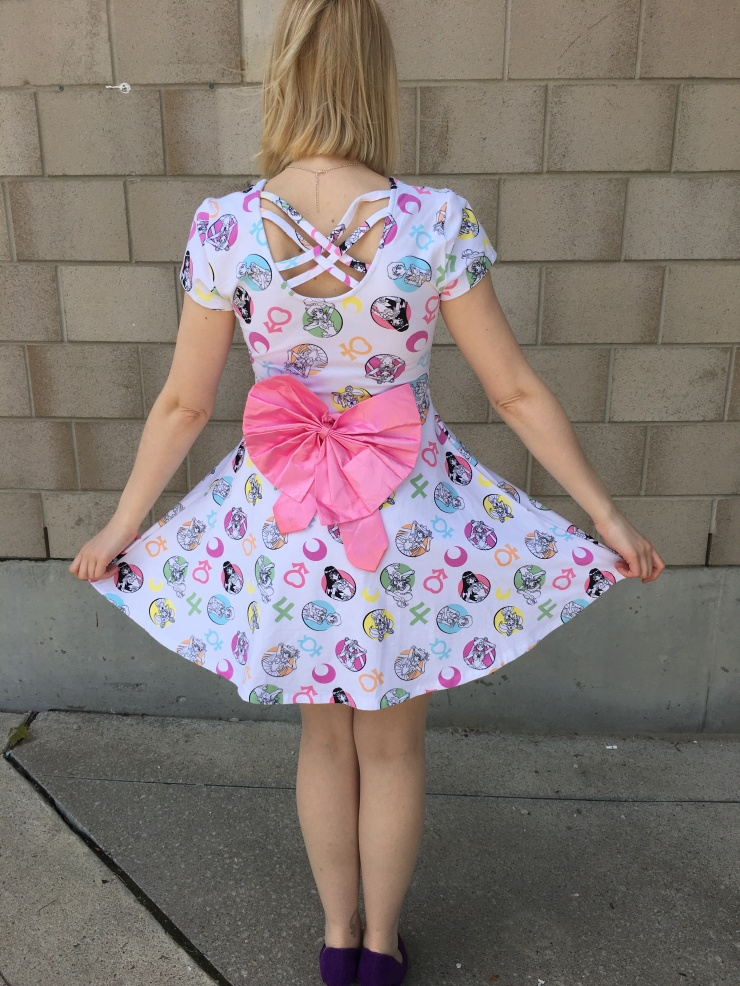 Bow on Back of Sailor Moon Dress