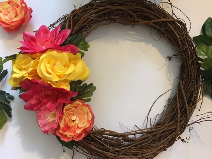 In Progress Spring Wreath