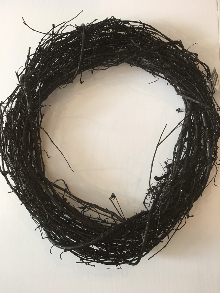 Black Sparkly Branch Wreath