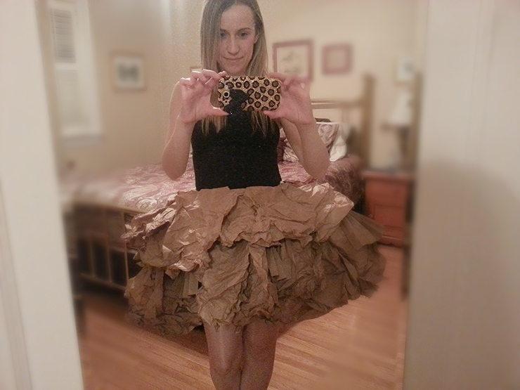 PaperBag Princess Skirt in progress