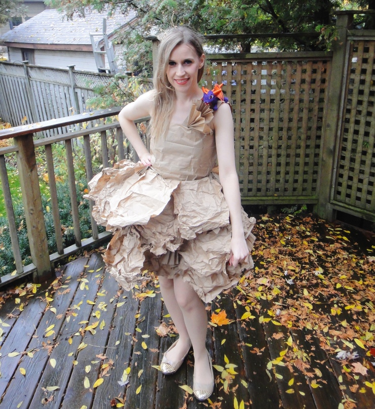 DIY PaperBag Princess Halloween Costume