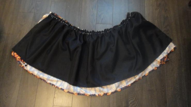 In progress gathered skirt