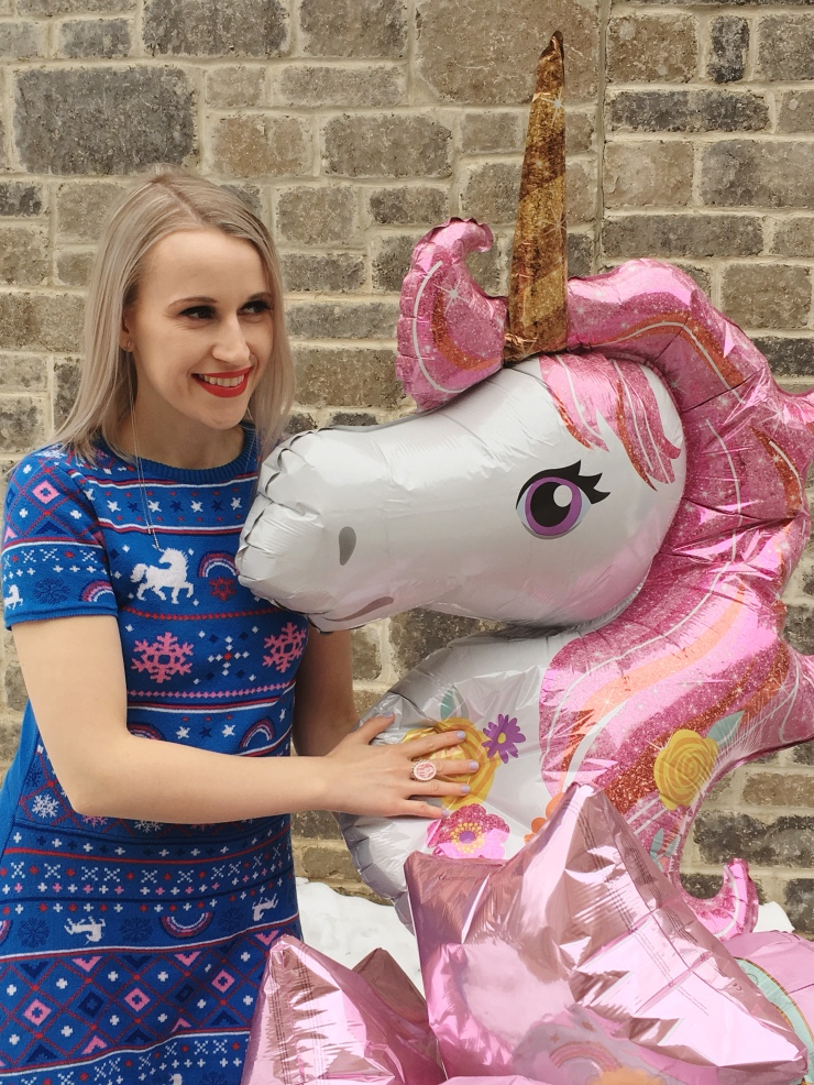 Christmas Unicorn Dress